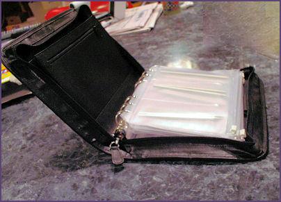 Kit open, showing needles