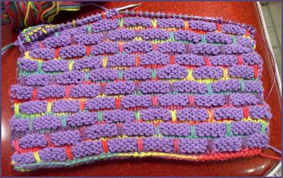 dishcloth in progress