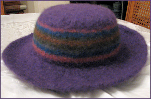 Hat re-felted