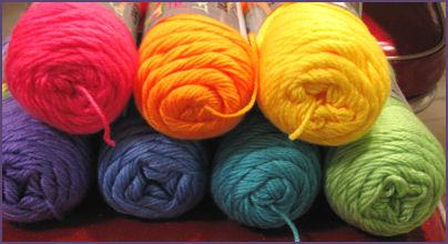 yarn in rainbow colors