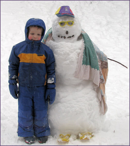 steven with snowman