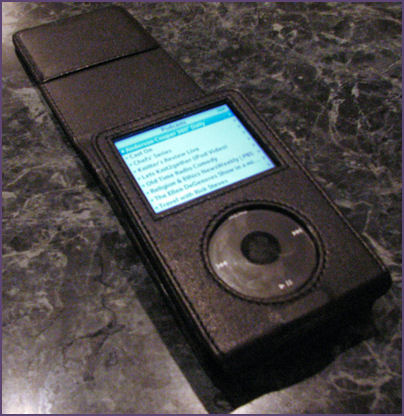 ipod in leather case