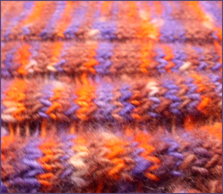 closeup of clapotis shawl, unfinished
