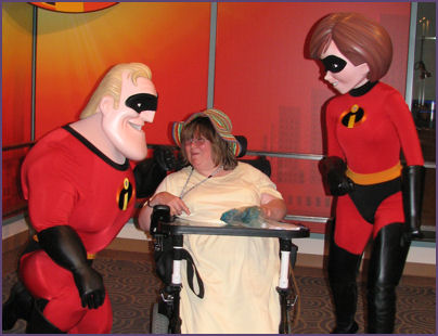 Mr. and Mrs. Incredible admire my knitting