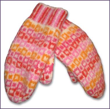 KnitWhits Mosaic Mittens