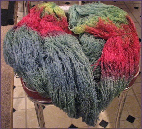 Cherry Tree Hill Oceania, Monet colorway, green, yellow, pink