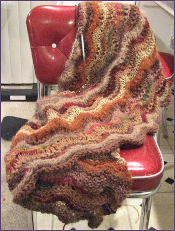 Ripple blanket in progress