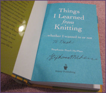 book signed by Stephanie Pearl-McPhee