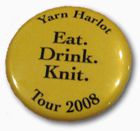 Yarn Harlot Tour Button