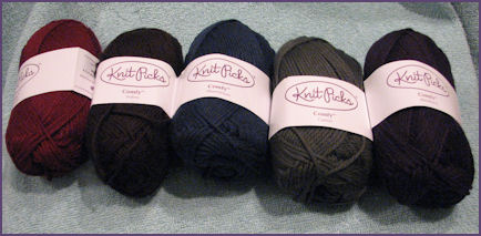 Comfy yarn in several colors