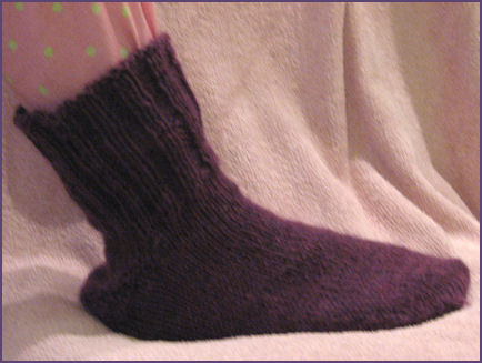 Sock Finished, with cuff up