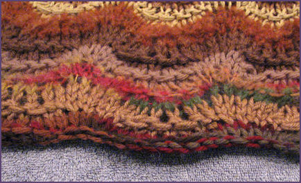 Afghan showing fixed bottom edge