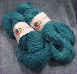 Lisa Souza Sock Merino Yarn, peacock colorway
