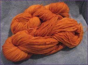 Lisa Souza Sock Merino Yarn, pumpkin colorway