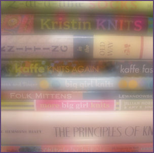 stack of books in soft focus