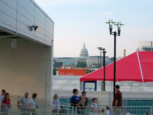 The US Capitol from the ballpark