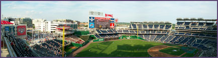 Panoramic veiw of Nationals Stadium