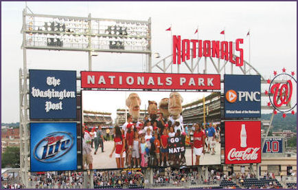scoreboard showing screenshot of presidential mascots