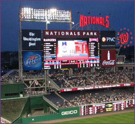 The scoreboard at night
