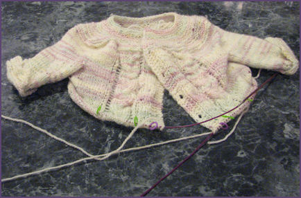 baby sweater with two sleeves