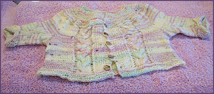 sweater, after blocking