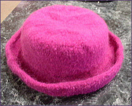 Diana's hat after felting