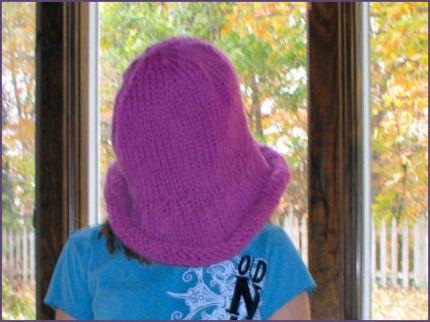 Diana's hat before felting