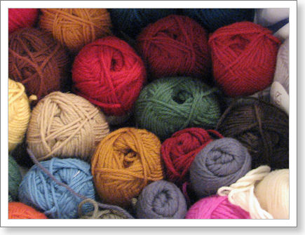 balls of yarn in various colors