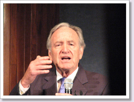 Senator Harkin says Thank You in Sign Language