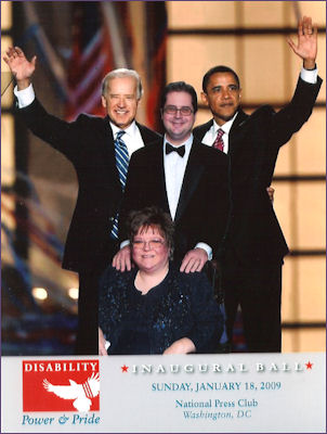 Trish and John with Biden and Obama