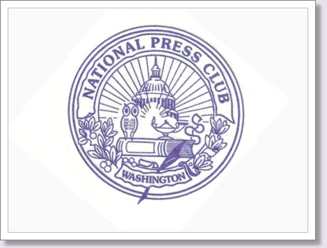 National Press Club logo on a napkin
