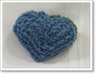 blue knitted heart