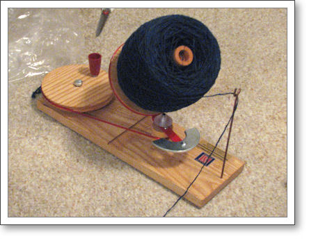 Yarn on jumbo ball winder