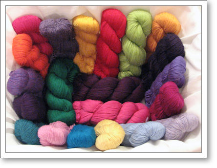 Cascade 220 in various colors (photo by Diana)