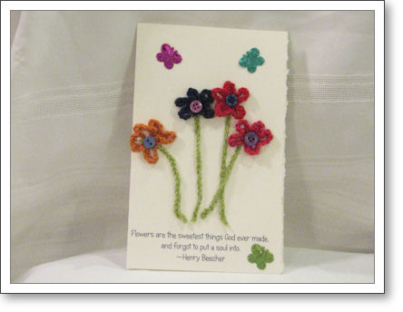 Birthday card with flowers on it