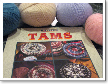Tam book with yarn surrounding it