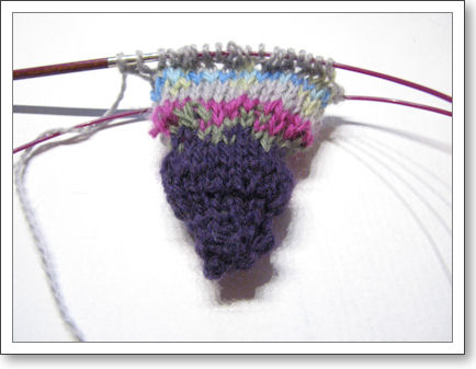 Fair Isle Sampler Hat beginning