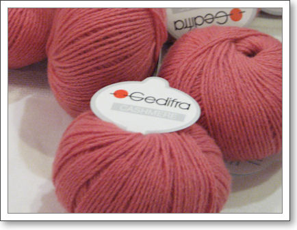 Gedifra Cashmere pink yarn