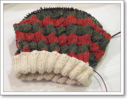elf hat in progress
