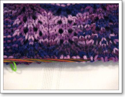 Closeup of the lace pattern