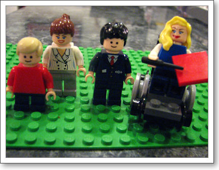 The Day Family in Legos
