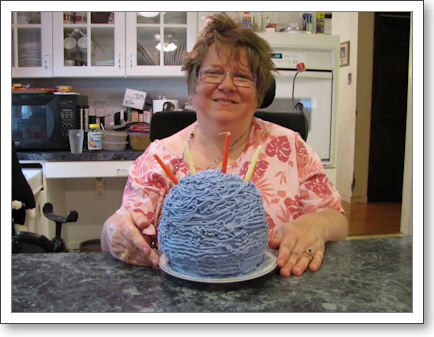 Trish with Yarn Ball Birthday Cake