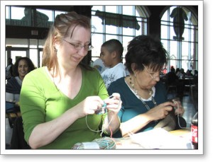 Lots of knitting going on!
