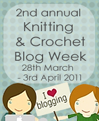Knitting and Crochet Blog Week is March 28 to April 3!