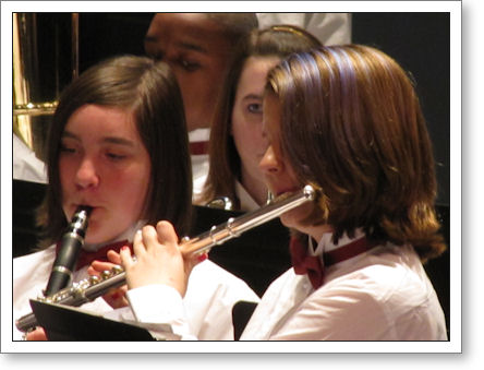 Teen Daughter, tooting flute