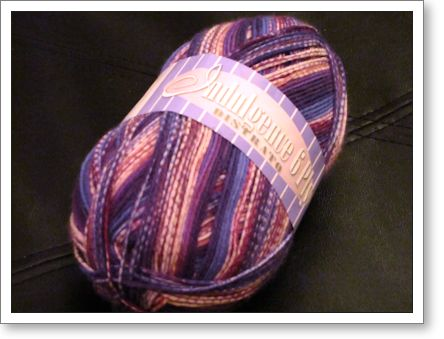purple self striping sock yarn