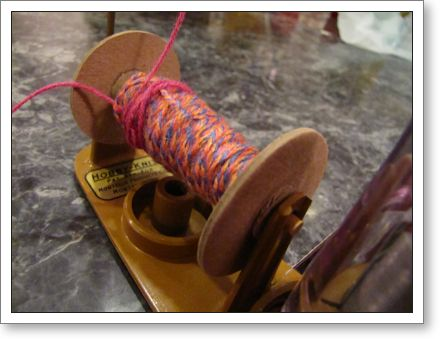 Closeup of yarn spool