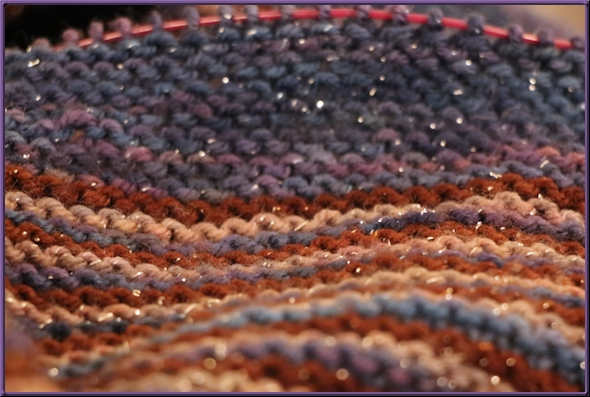 Color Affection Shawl, almost done