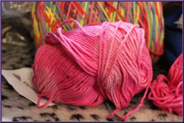 Faded pink yarn