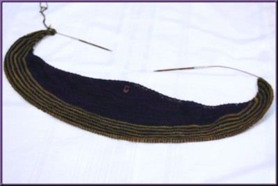 color affection shawl in progress